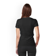 Cold Drip IV Fitted V Neck (back)