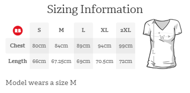 Fitted V Neck Sizing