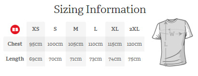 Graphics Shirt Sizing